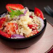 salade quinoa fenouil fraise radis