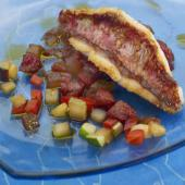 Filet de rouget chorizo tomate