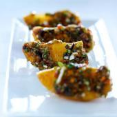 Kaki persimon vinaigrette de legumes